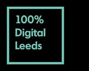 100% digital leeds logo