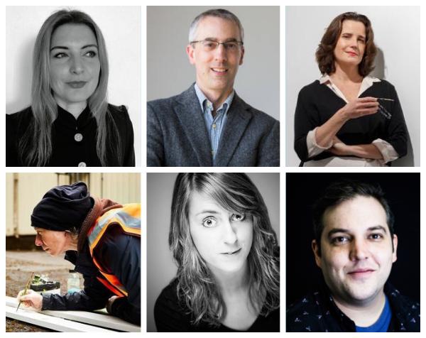 Portraits of panel speakers